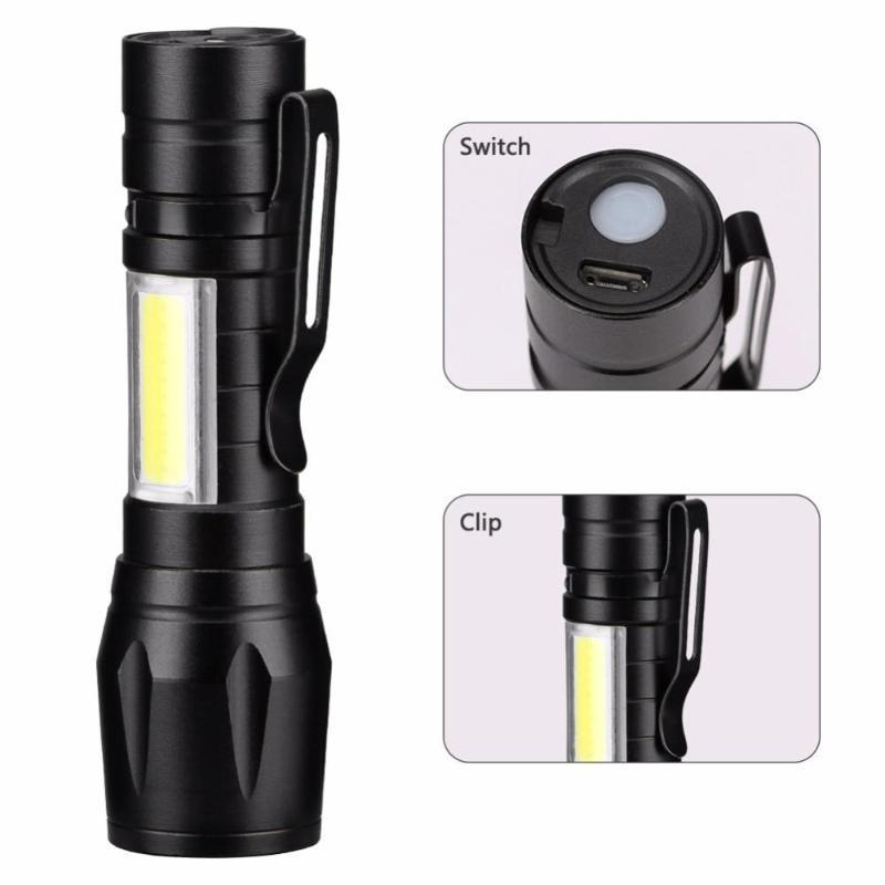 Flashlights Torches USB Rechargeable LED XPE COB Camping Light 3 Lighting Mode Flash Waterproof Lamp Zoomable Night Touch