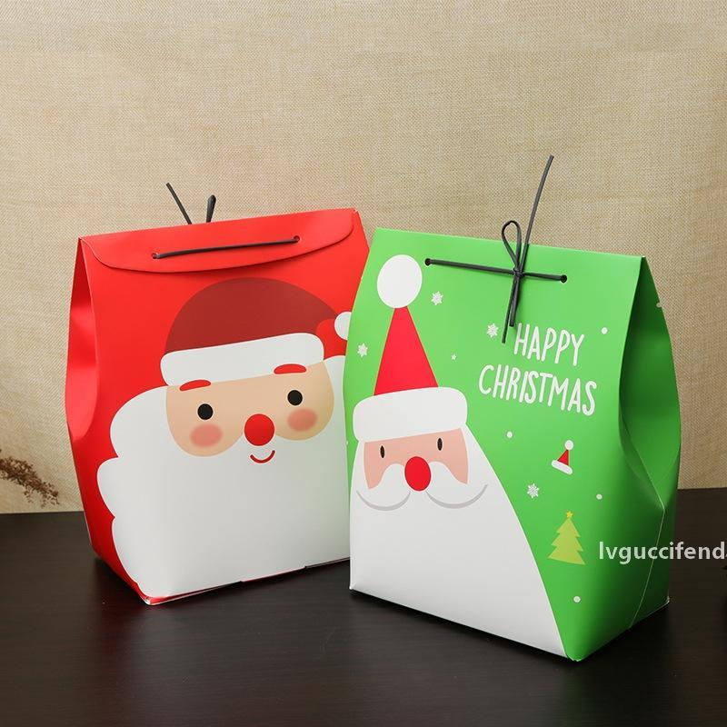 big size 24.5*11.5*18cm 10set Christmas Santa green red Paper Box gift Storage Boxes