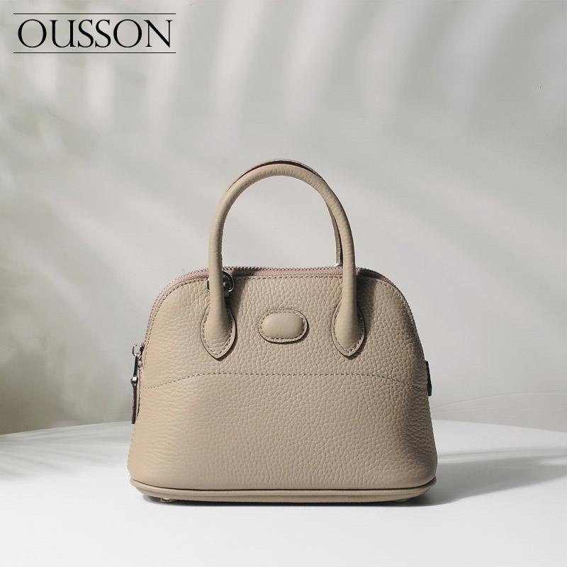 hakiki deri yeni 2020 ile Ousson moda deri kadın çanta Shell Çanta Omuz Çekik Çanta bütün