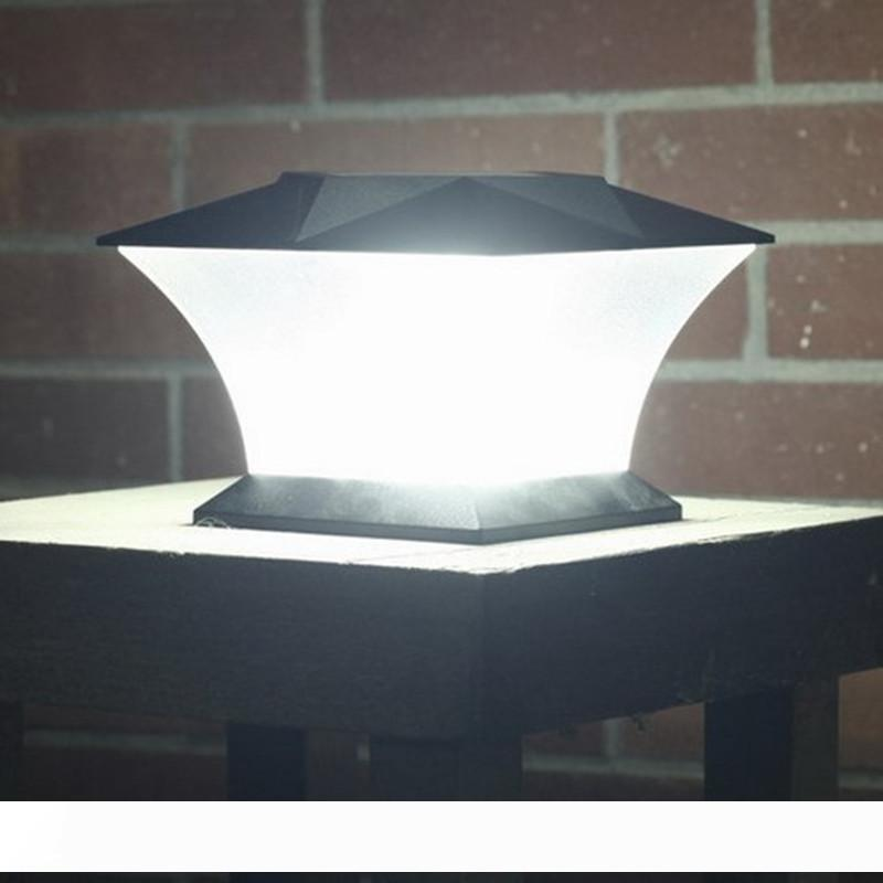 Nouveau 24LED solaire pilier lumière LED pôle solaire colonne après lampe pour l'extérieur Porte clôture mur Cour Cottage Parc des ménages