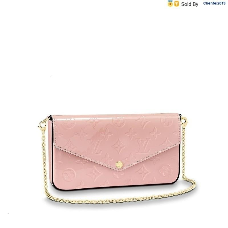 chenfei2019 UWQW Pochettefelicie Ballet Pink Chain Detachable 3-in-1 Hand, Strap, One-shoulder Handbag M64358 Totes Handbags Shoulder Bags