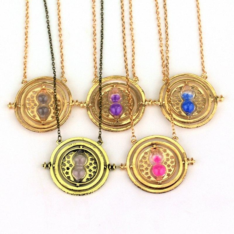 ZXMJ Harried Hogwarts Necklace Pendant Potters 6 colors Hourglass Horcrux Necklaces Jewelry gift For women men Fans NEFB#