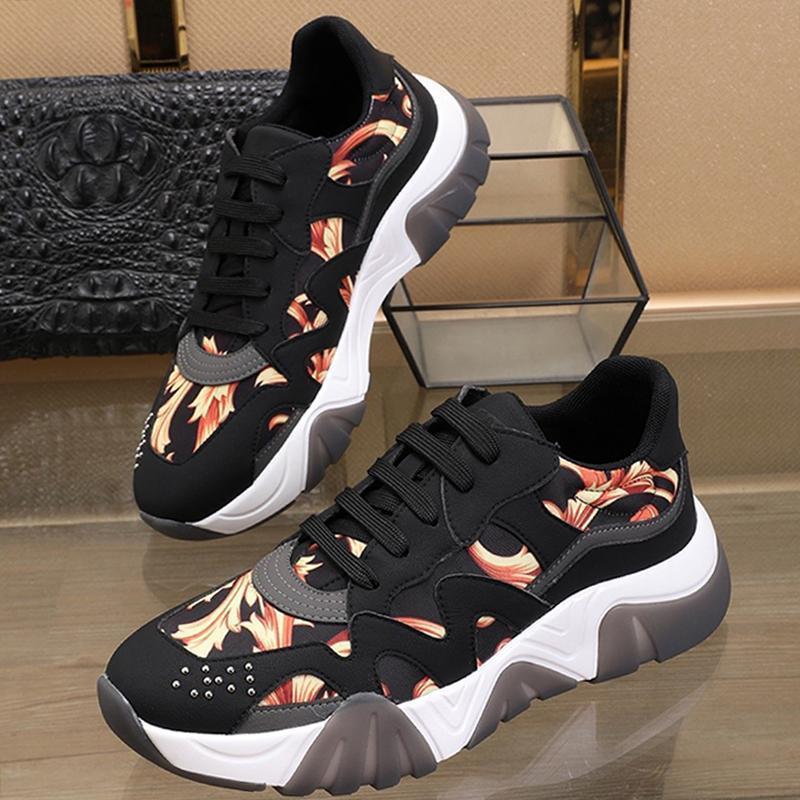 Hızlı Teslimat Erkek Ayakkabı Lüks Tasarımcı Moda Spor Sneakers Dantel -Up Düşük En Plus Size Casual Erkek Ayakkabı Açık Yürüyüş Yumuşak Footwears