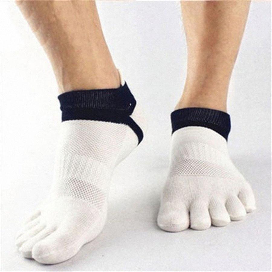 Toptan-Moda kısa nefes pamuk çorap Erkekler Spor Çorap Beş Fingers'ın soocks 1 Çifti uomini calze FTfM # ter emdirin örgü