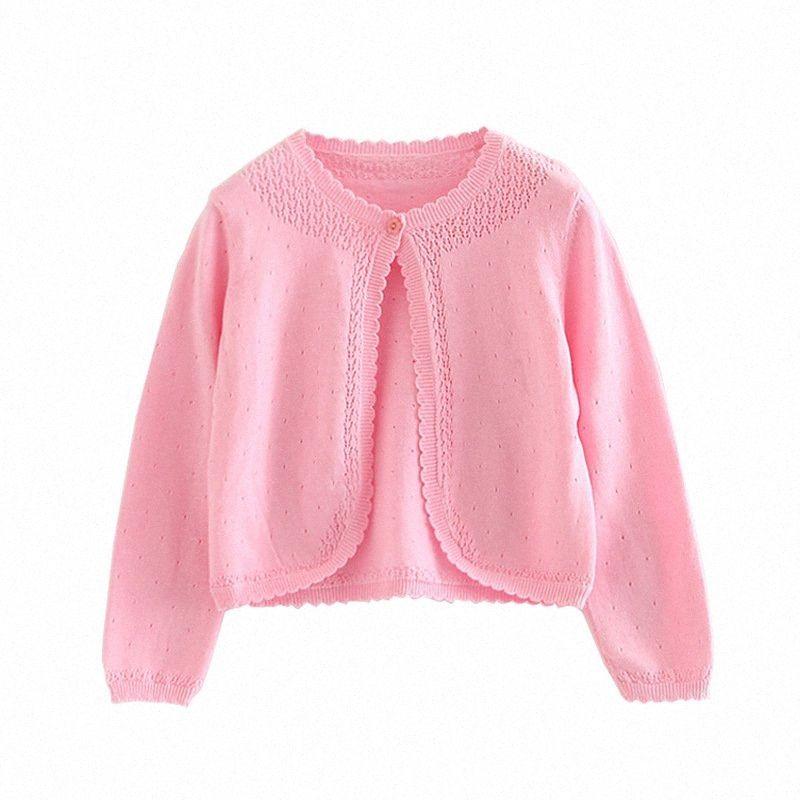 Pembe Bebek Kız Hırka Kazak Bebek Lolita Ceket Yenidoğan Bebek Kız Coat 3 6 10 12 18 24 Ay Giyim OKC205001 D8K5 #