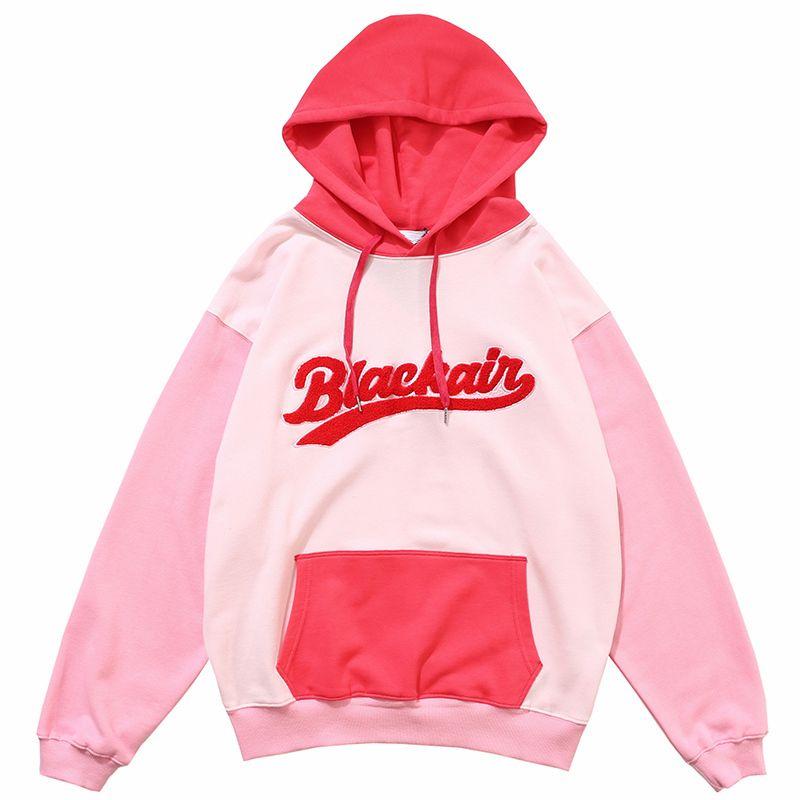 2020 Hip Hop Hoodie Sweatshirt Color Block Patchwork Streetwear Hoodie Harajuku Men HipHop Pullover Loose College Style