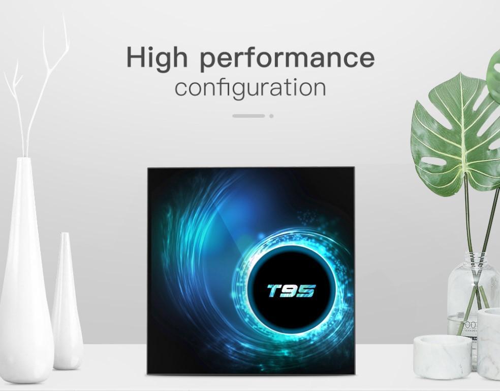 T95 Android 10 4k 6k Smart Tv Box 4g 32GB 64GB 128GB Wifi Bluetooth 5.0 Set-top Box Media Player