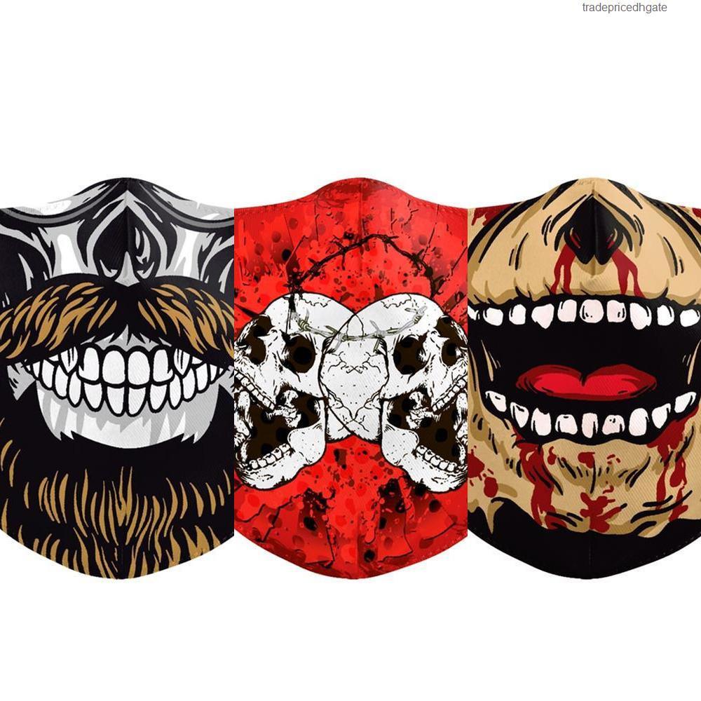 Dhl Druck Spanien-Flagge Italien Schädel-Maske Kämpfen Gesichtsmasken Stoff Adult Protective Pm2 Us1q
