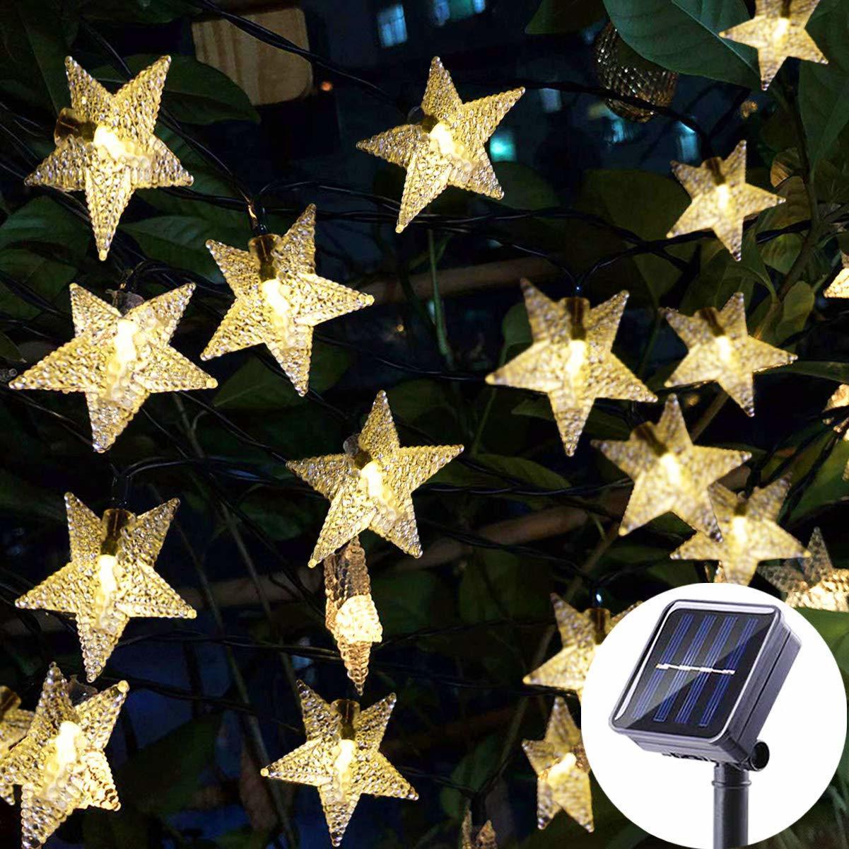 5m 20leds 태양 광 조명 별 / 꿀벌 / 공 야외 정원 라이트 크리스마스 파티 장식 정원 갈 랜드 태양 광 조명