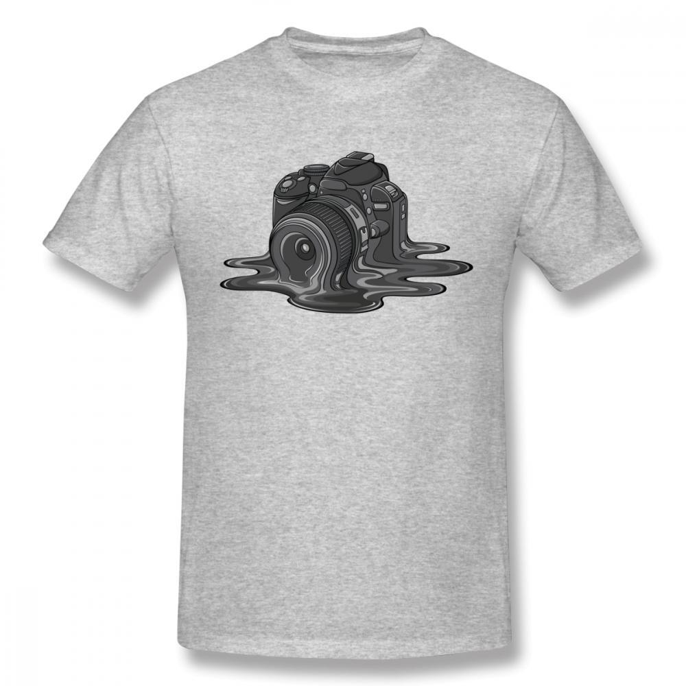 Унисекс High-Q печати Камера Melt Tee Shirt Хорошее Кинооператор Фотограф из органического хлопка круглый воротник футболки