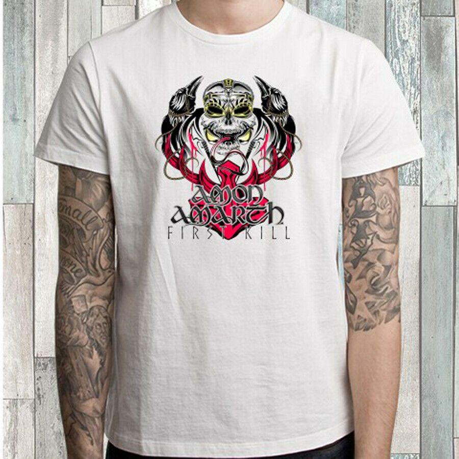 Branca T-shirt Amon Amarth primeiros homens da matança Tamanho S M L XL 2XL 3XL