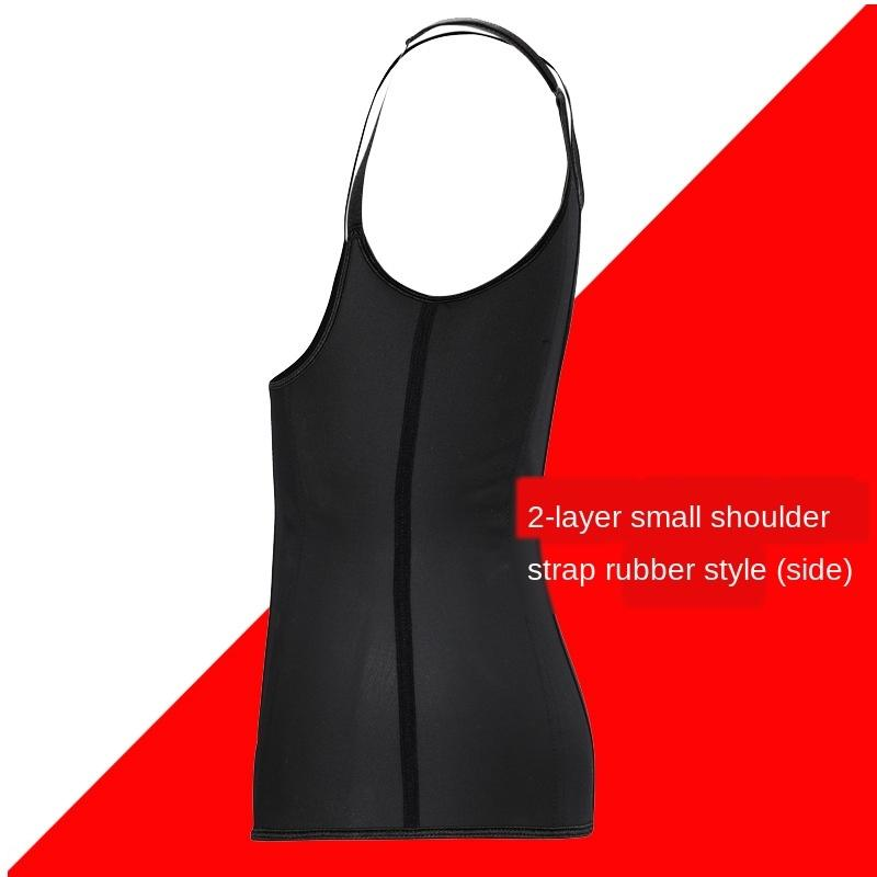 waist cincher steel bone natural rubber corset three-breasted Latex buckle Latex body shaping