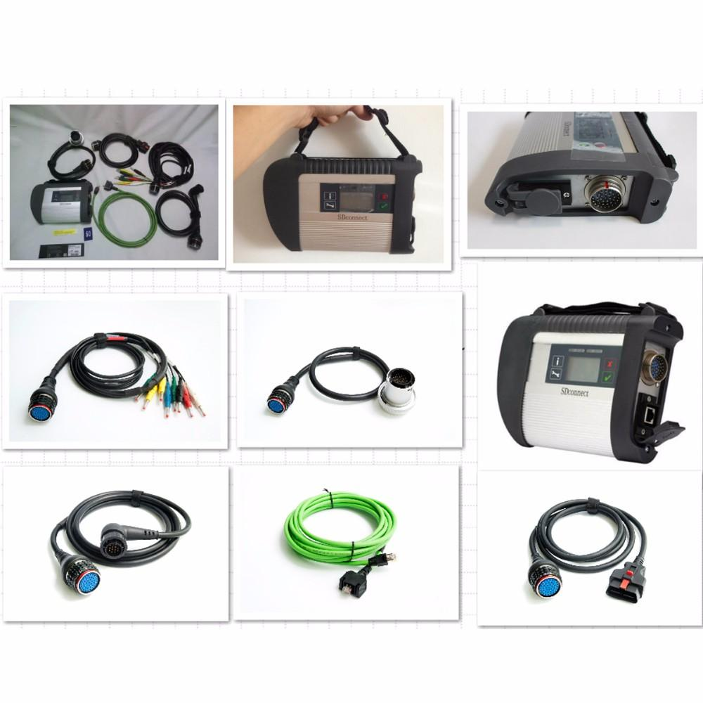 Melhor xentry qualidade total Chip NEC Relés MB SD conectar Compact 4 MB Estrela C4 2.020,6 Diagnostic-ferramenta SD C4 com Wi-Fi (12V + 24V)