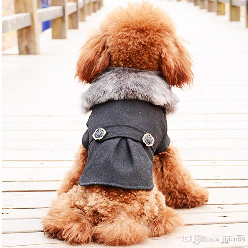 Dog Clothes Warm Puppy Outfit Pet Jacket Hooded Coat With Cap Winter og Clothes Soft Sweater Clothing For Small Dogs Chihuahua DHL Free