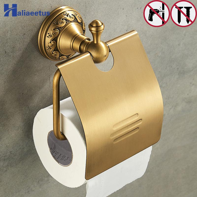 Nail Free Ванная Бумага туалетная Держатели ванной латуни Настенный Рулон ткани стойки Держатель рулона бумаги T200425