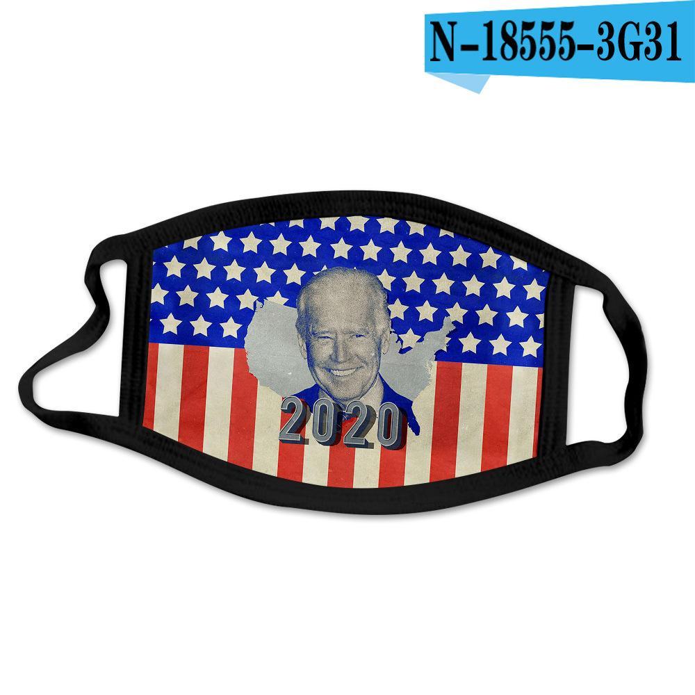 Maschere 14style Joe Biden 2020 Maschera elezioni americane faccia 3D stampare antivento cotone Bocca mascherina mascherine figli adulti Biden partito GGA3575-5