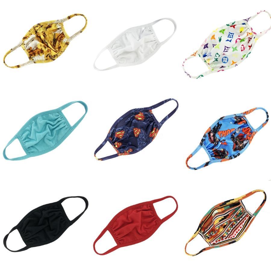 Couche coton 6 Masques Gaze Breatable Masques anti-poussières Wasable Printemps, Eté, Automne, Hiver Masques Termal # 795