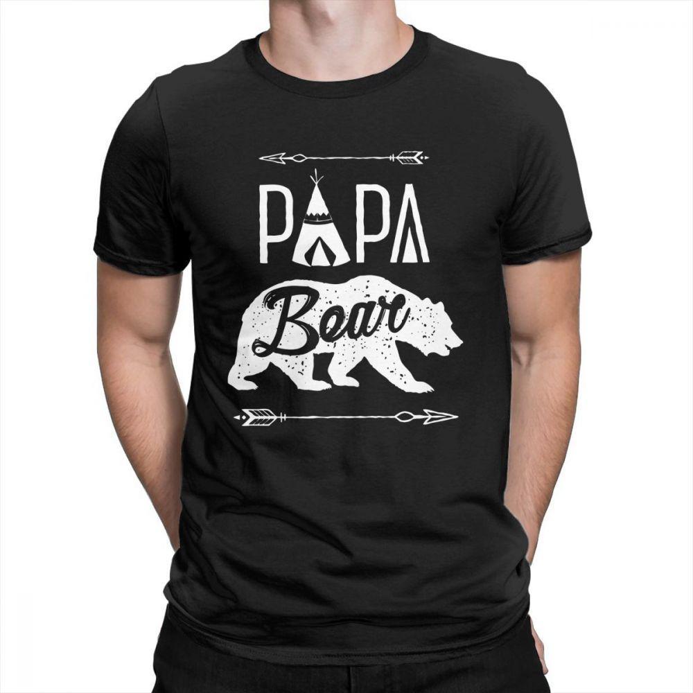 Baba Ayı Tişört baba Babalar Günü Man Tişörtlü Kısa Kollu Arıtılmış Crewneck Komik Tişörtler Pamuk tişörtleri Yeni Giysiler