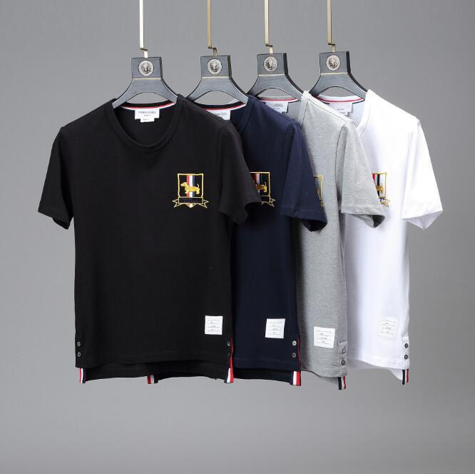 Neue heiße Verkaufs-Mann-Frauen-T-Shirts Art und Weise Sommer-Kurzschluss-Hülsen-Klassiker Welpen Stickerei Kleidung Unisex Casual T-Shirt freies Verschiffen
