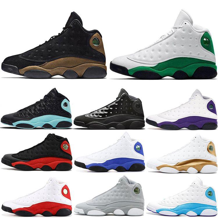 Yeni 13 Ters O Game Ada Yeşil Geldi Chicago Flint Erkekler Basketbol Ayakkabı 13 S Melo DMP Playoff Hiper Kraliyet Sneakers Kutusu