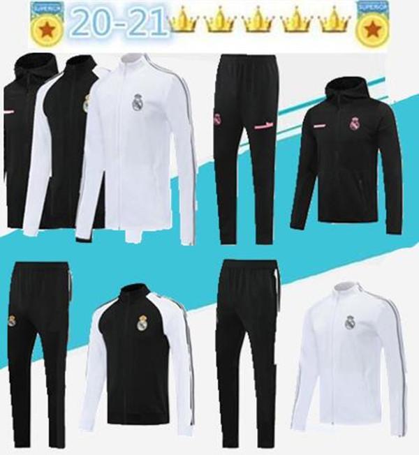2020 21 Real Madrid Adult training clothes Sport jacket Long zipper Football jacket Sport Play Winter training jacket size S-2XL