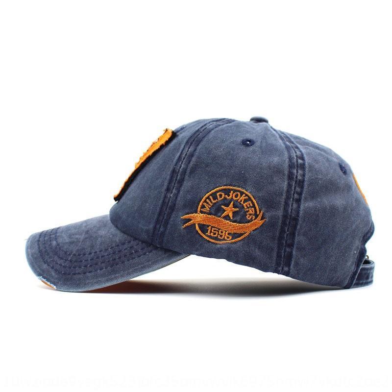 All-шлет хлопок бейсболка Вышитой бейсболка сделана с промытыми краями старого стерео вышитого W письма шляпу