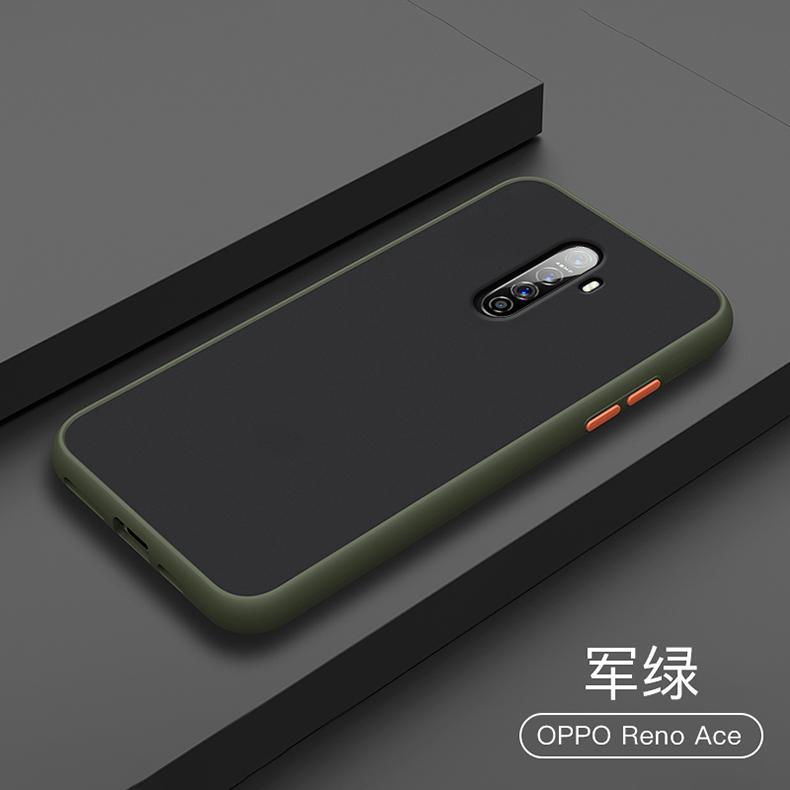 Pour OPPO Realme X2 Pro Hard Case PC Transparent Matte Slim Housse de protection arrière cas pour téléphone shell complet de couverture OPPO Reno Ace