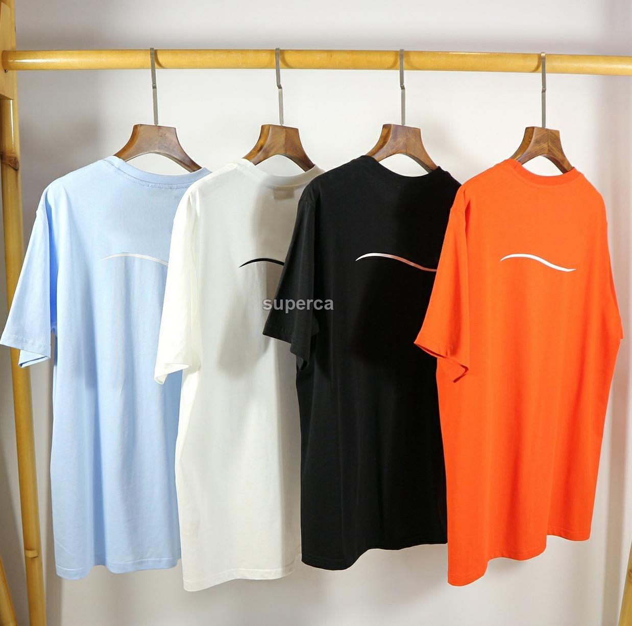 20SS 남성 톱 티 t- 셔츠 캐주얼 여성 티 t- 셔츠 크기 S-XL 편지 인쇄 새로운 여름 까마귀 파리 팬 남성 고급 T 셔츠
