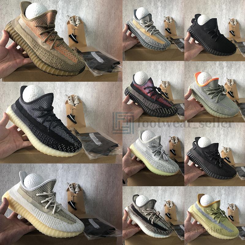 Adidas Yeezy Boost 350 v2 Mit Box Oreo Israfil Cinder Wüste Sage Asriel Linen Reflective Kanye West Herren Laufschuhe Frauen Turnschuhe Sport Sneakers Big Size 13