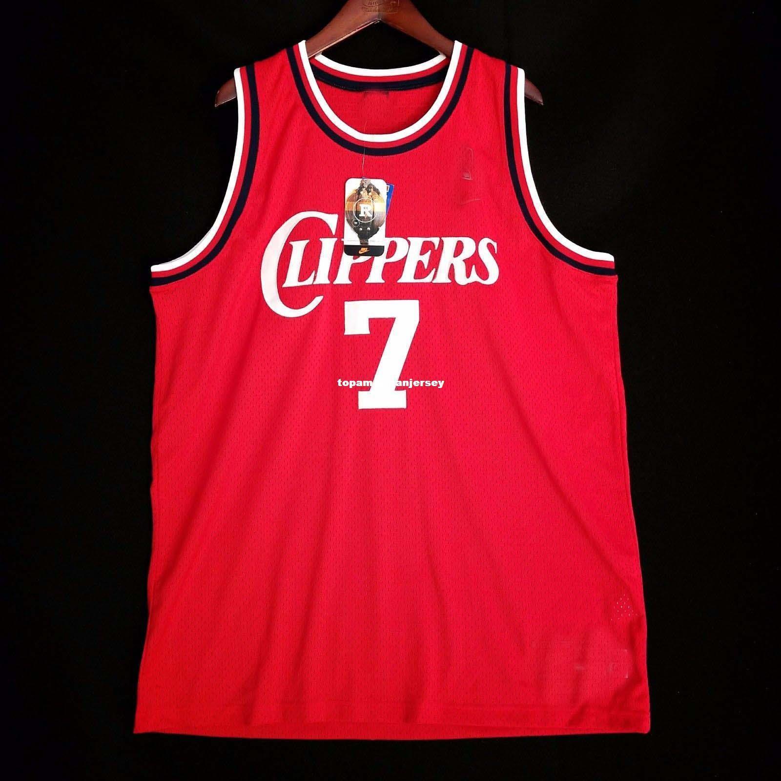 100% Stitched Lamar Odom #7 Sewn Jersey Red blake griffin Mens Vest Size XS-6XL Stitched basketball Jerseys Ncaa