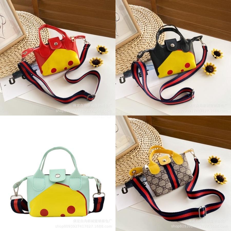Crianças Meninas Messenger Bag bowknot bonito cor pura Bolsas Crianças PU ombro de couro Bolsas Mini Crossbody Bag Clutch Handbag # 897