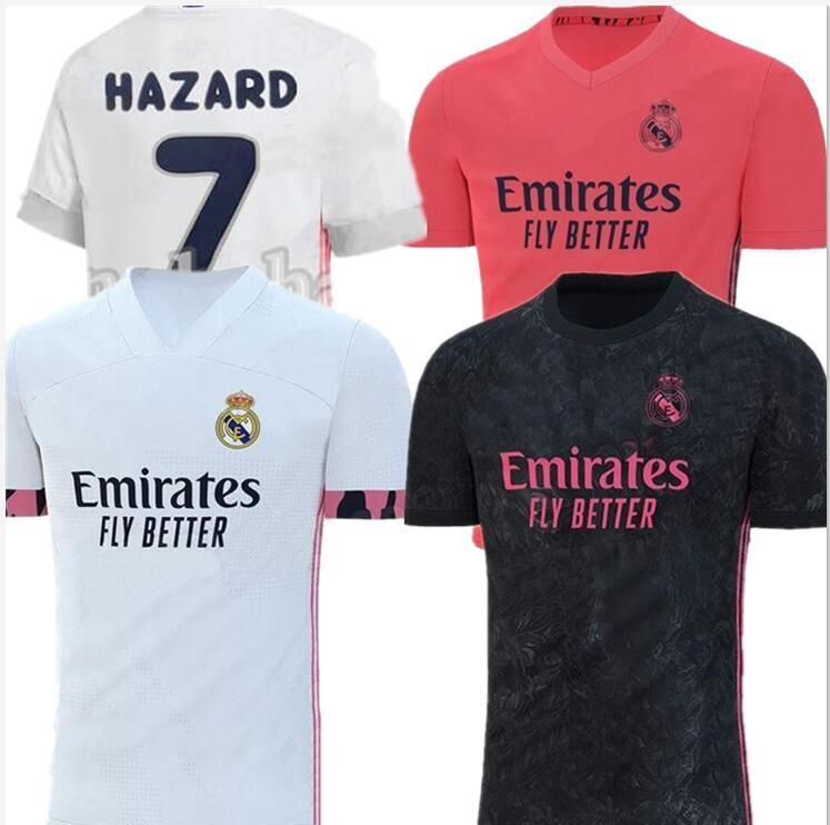 2021 Real madrid calcio Jersey Benzema JOVIC Modric Sergio Ramos per balle PERICOLO 2019 2020 sport uomo adulto di calcio camicie