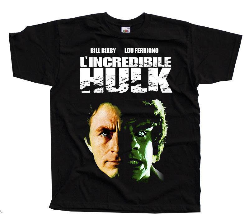 Der unglaubliche Hulk V1, K.Johnson, Fernsehserie, T-Shirt Schwarz Alle Größen S bis 3XL