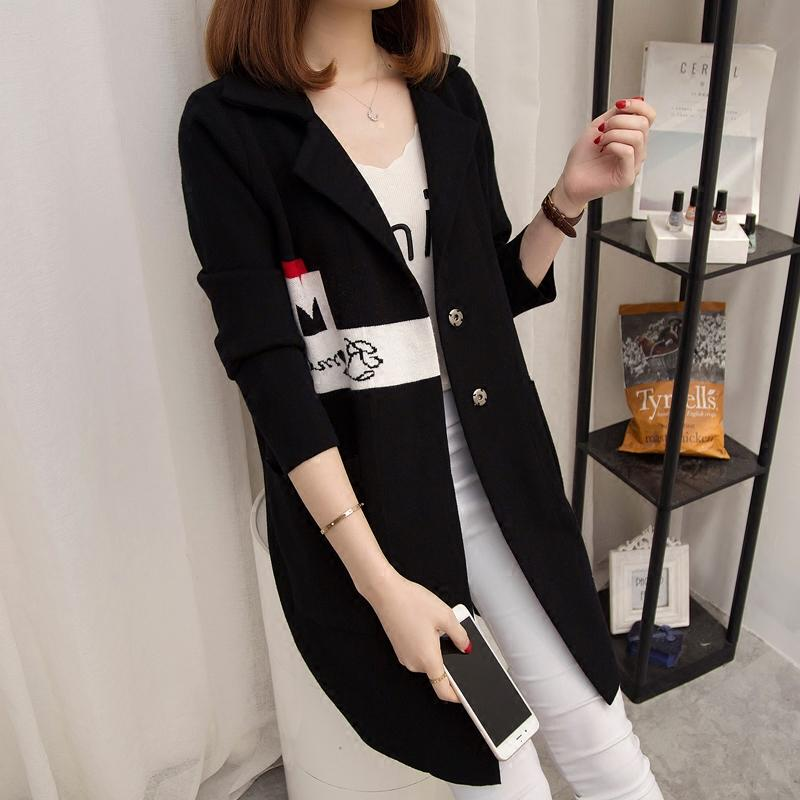 Cardigan women's long coat 2020 new long-sleeved women's sweater Korean version of the loose sweater tide