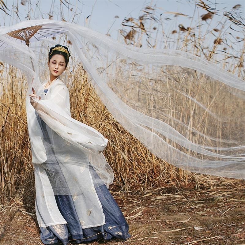 B2BhS Wu Shirt ancien costume Ruan Hai vêtements Han femme style chinois super immortel Qi Xiu jupe apprentissage souvent élégant costume antique
