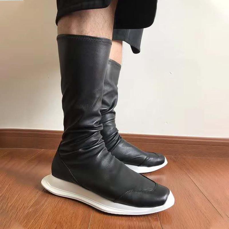 Los zapatos de cuero botas de montar larga para los hombres suave gamuza calidad estupenda invierno Trainer 29 # 30 / 20d50