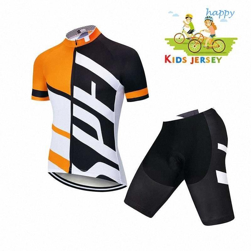 infantil 2020 Ciclismo Jersey Set manga curta roupa Ciclo Crianças verão respirável Gel Pad Shorts Kit Quick Dry Roupa Ciclismo vJWP #
