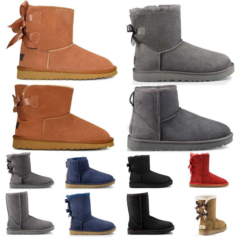 UGG Australia Boots Boot booties حدث البلاديوم مارتنز أحذية للنساء الرجال الكلاسيكية الثلاثي أبيض أسود الشتاء التمهيد إمرأة المدربين رجل الجيش الأخضر الكاحل الجوارب حجم 36
