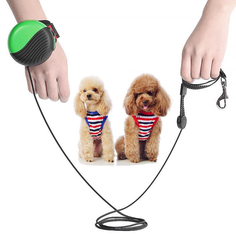 المقود ناحية مجانا أوتوماتيكي قابل للسحب الكلب كلب المشي اليد المعصم المقاود تمديد المقاود المعمرة قوية مستلزمات الحيوانات الأليفة هبوط سفينة