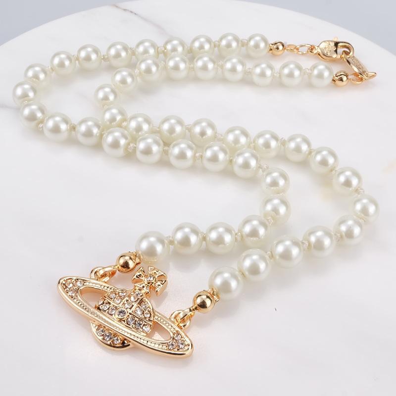 Exquisite Kristall Satellitenhalskette Elegante Perle Halskette Schlüsselbein Kette Halskette Barock Perle Choker Halskette Für Frauen Partei Geschenk
