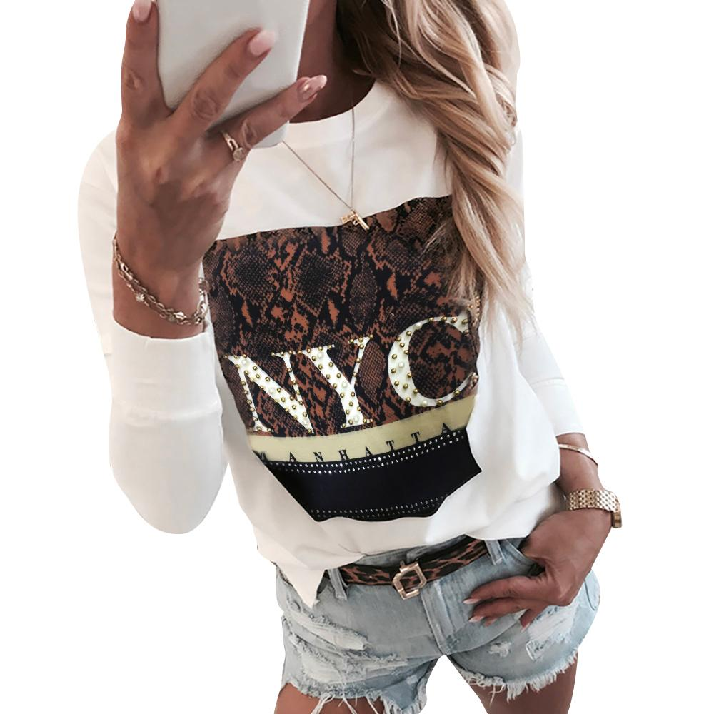 Femmes Sweat à capuche Chemisier Avec Bouton Imprimé Automne Sweat-shirt à manches longues Pullover