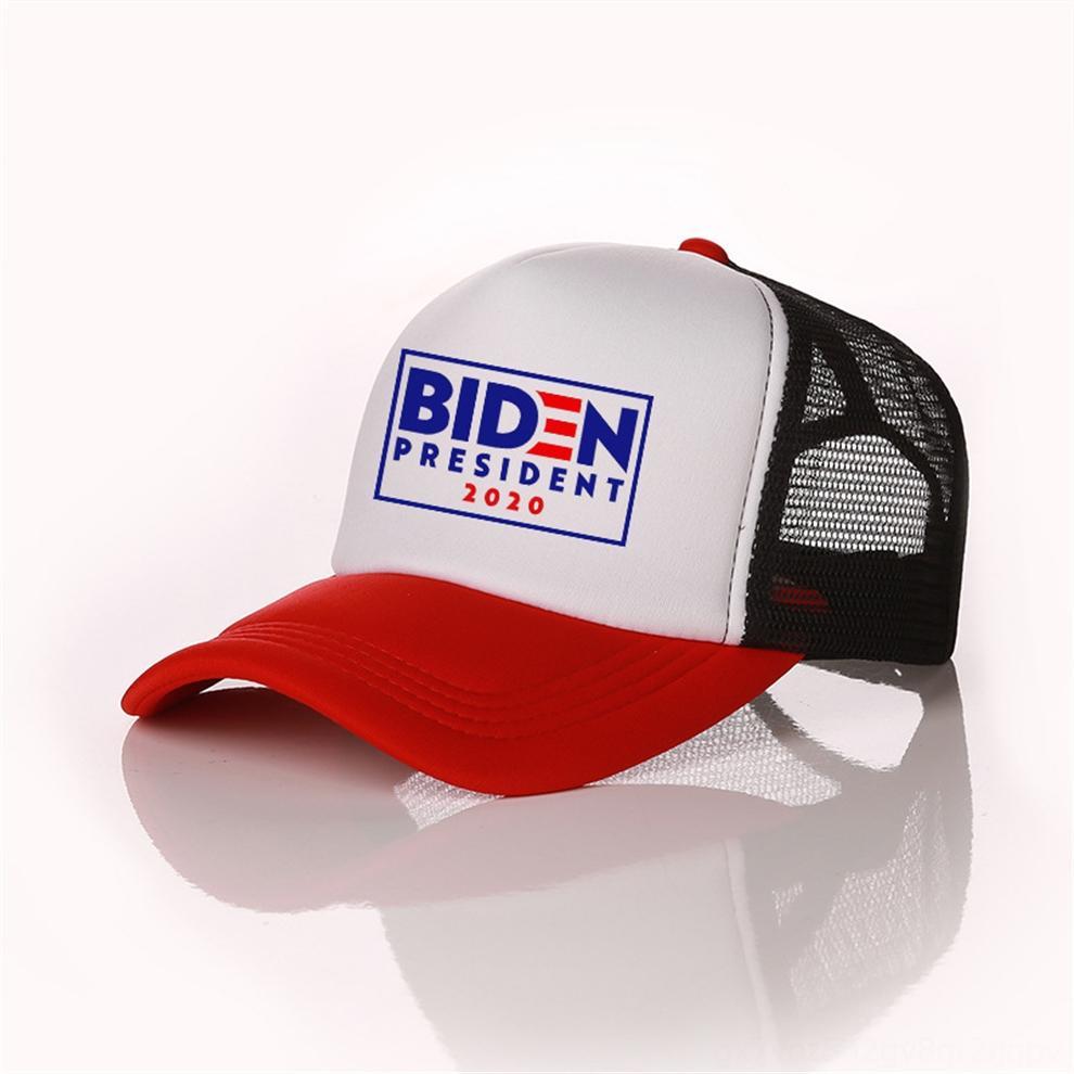 eCgIP Biden Başkan 2020 Balo Şapka ABD Biden Mektupları Kadın Erkek Şapka Yaz Mesh Patchwork Cap Açık Güneş Şapka Spor Beyzbol Peaked Caps