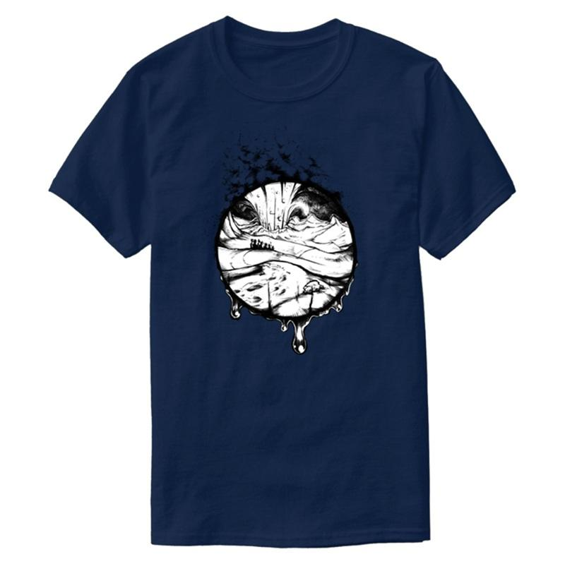 Erkek Doğal Serin Yuvarlak Yaka Temel Katı Boş Tişörtler 2019 Kısa Kollu Tee Gömlek için Kişiselleştirilmiş Yaz Comet Tişörtlü