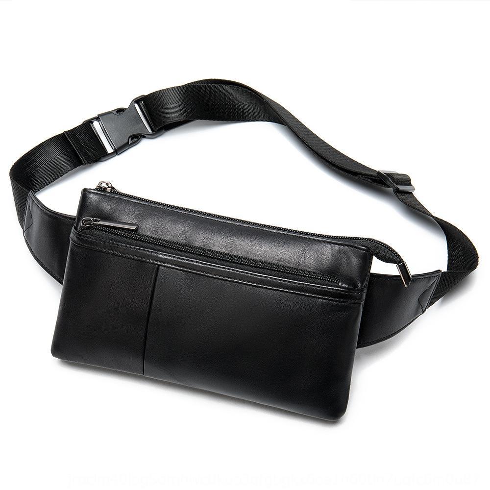 Machert moda gerçek deri bel erkek ve yumuşak deri moda koyun derisi kadın basit çanta çalışan torbayı çalışan 8982 koyun derisi
