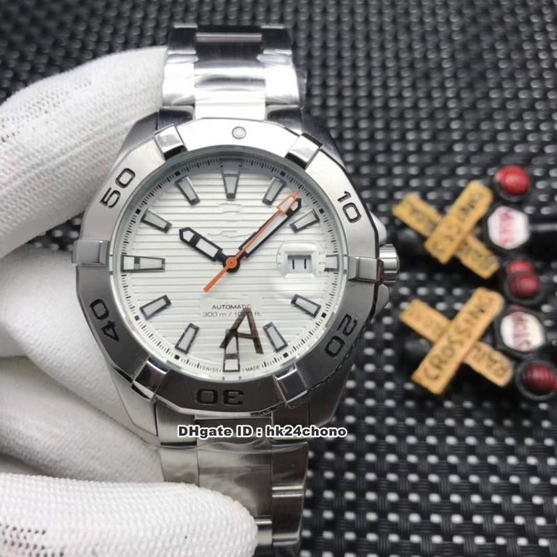 5 Стиль Лучший 43мм Чайка Автоматические механические мужские часы WAY2013.BA0927 белый циферблат стали браслет спортивные часы из нержавеющей стали