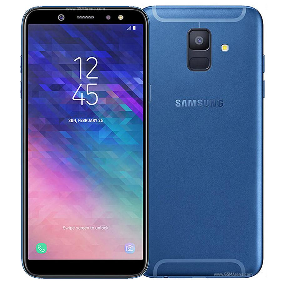 Recuperado Original Samsung Galaxy A6 2018 5,6 polegadas Octa Núcleo 3GB RAM 32GB ROM 16MP Câmera Desbloqueado 4G LTE inteligente Android Móveis 5pcs Telefone