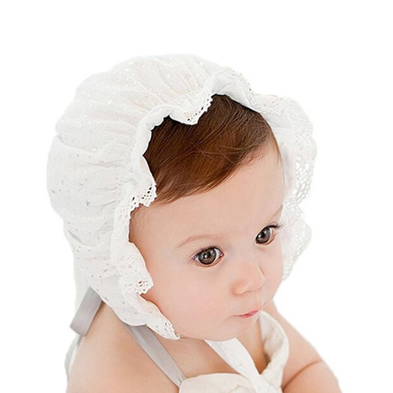 1 шт ребёнка Bonnet ретро Beanie Hat Infant Вводной Nordic Vintage Lace малыши Bonnet Дети Cap