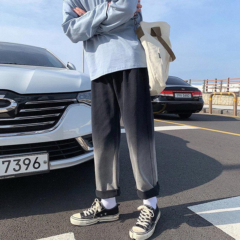 Erkek Kot 2021 Bahar ve Yaz Yakışıklı Katı Renk Dikiş Genç Kişilik Moda Trend