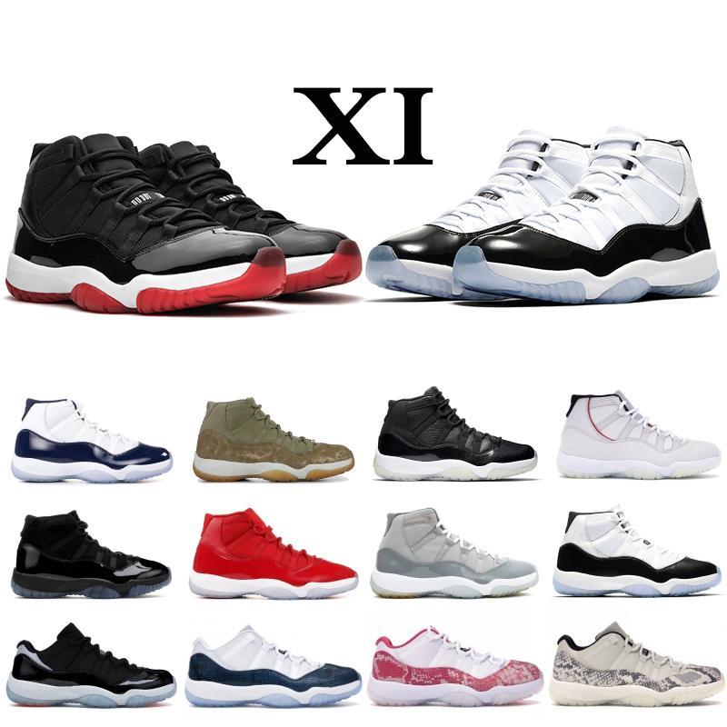 02 змеиной 11s Мужчины Женщины высокие и низкие Баскетбольная обувь 11 Concord Платина Оттенок пространство вареньем Дизайнерские Самое лучшее качество Sports кроссовки тренеры