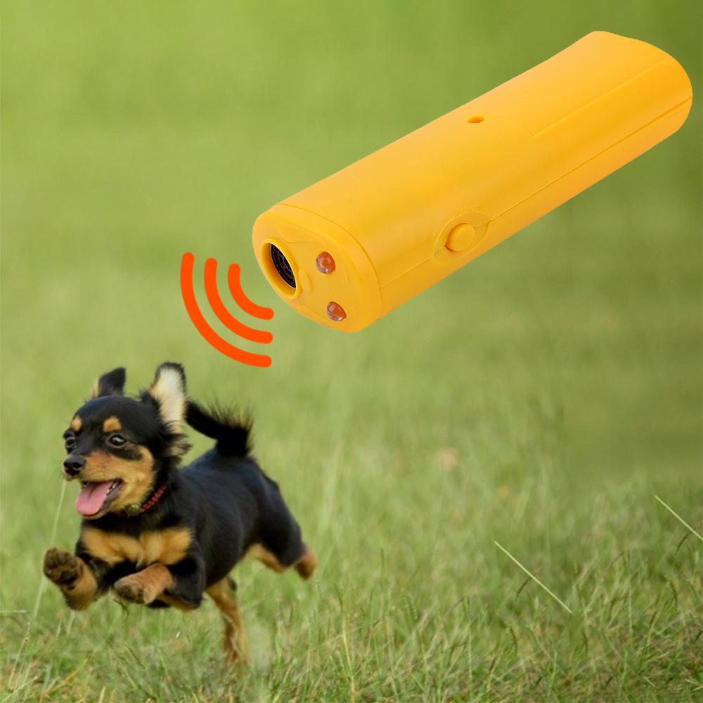 Pil olmadan 1 Anti Barking Ultrasonik Pet Köpek Kovucu Anti Barking Durdur Bark Eğitim Cihaz Trainer LED Ultrasonik 3